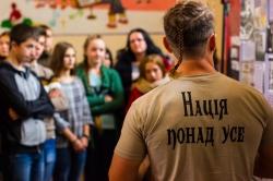 """Виставка """"Українська друга світова"""". Школа-інтернат  м.Долина"""
