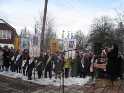Вшанування героя битви під Крутами Миколи Корпана в с.Тяпче.