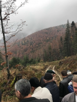Місце складення присяги сотень УПА Трембіта і Сіроманці.